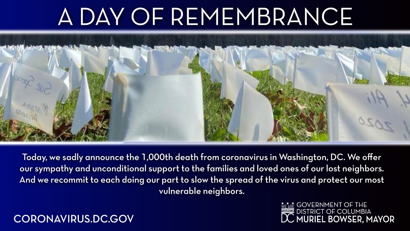 A Day of Remembrance graphic