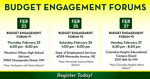 Budget Engagment Forums
