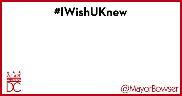 Blank image reading #IWishUKnew