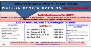 OTR Walk-in Center Tax Help
