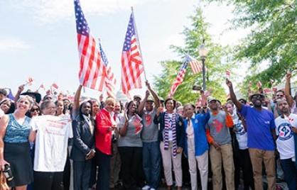 Mayor Bowser with statehood advocates