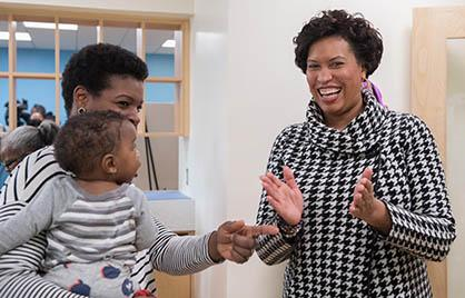 Achievement Gap In Dc Starts In Infancy >> Mayor Bowser Cuts The Ribbon On Child Development Center At Ketcham